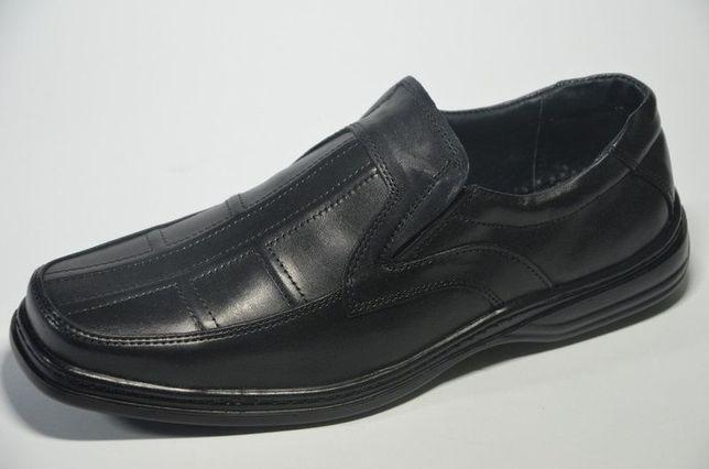 мужские кожаные прошитые туфли LIMAR куб резинка