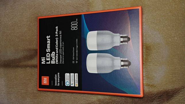 Mi LED Smart Bulb (White and Color) 2-Pack Żarówka Smart Wi-Fi alexa