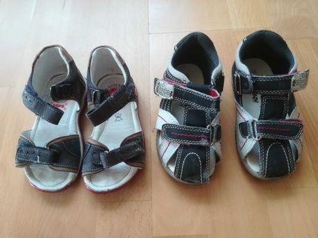 Sandałki 23 24  dl wkl 15 cm zestaw 2 pary Lasocki  i action boy
