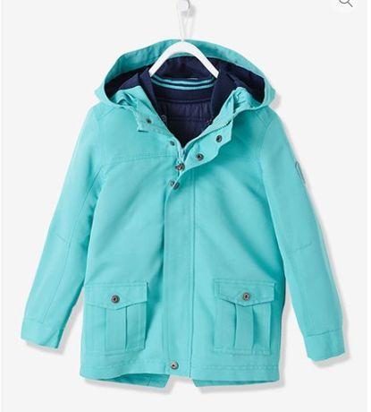 Vertbaudet! Демисезонная куртка 3-в-1, парка на мальчика 3-4лет