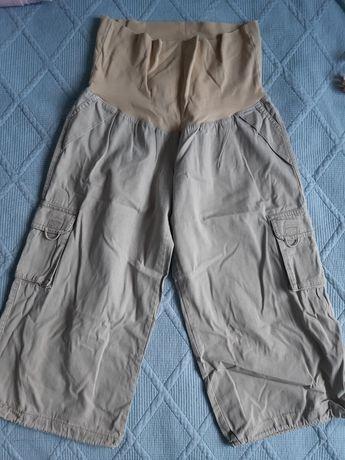 Spodnie ciążowe beżowe