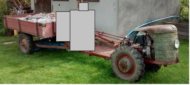 Traktor Ciągnik jednoosiowy dzik2 dzik-2 pług przyczepa lisek MWZ-2