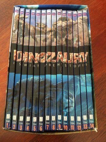 Dinozaury i świat prehistorii DVD 14 tomów