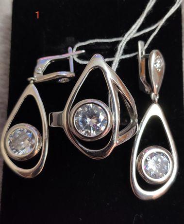 Комплекти зі срібла; серебряные комплекты украшений