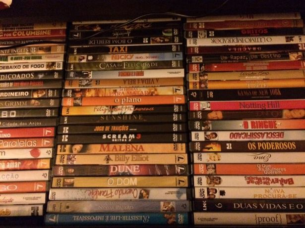191 dvd originais em caixa