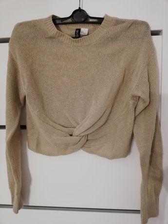 Krótki sweterek H&M rozm S beżowy