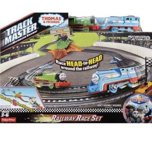 Fisher-Price Thomas 1,8м железная дорога Паровозик Томас гонка с Перси