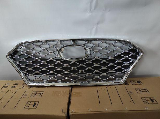 Соната Спорт 17+ бампер решетка панель фары накладки птф хром