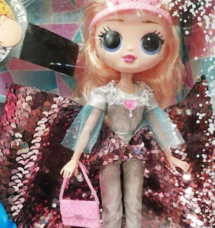 Кукла с короной в красивом платье, айсберг светящийся Кукла в коробке