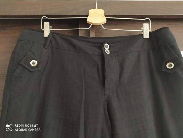 Spodnie czarne, rozm 44,nogawki gumka