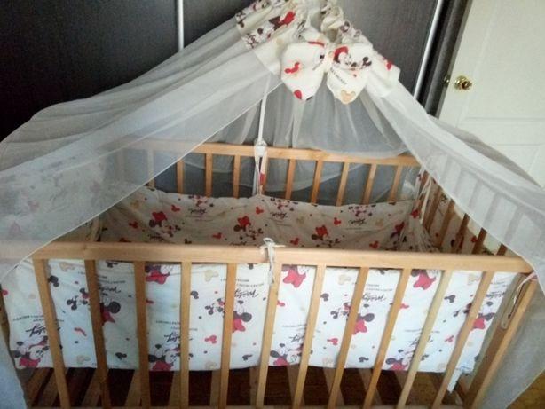 Бортики и балдахин в детскую кроватку.