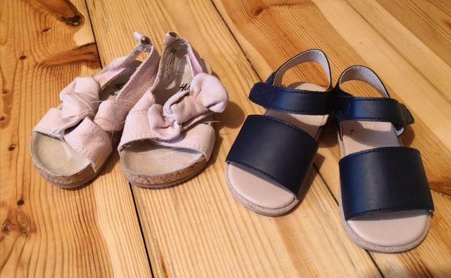Zestaw komplet buty sandałki H&M HM 18/19 lato niechodki cena za dwie