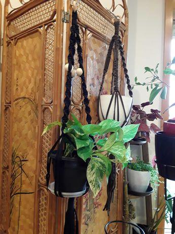 Suportes para plantas em Macramé. Varias cores.