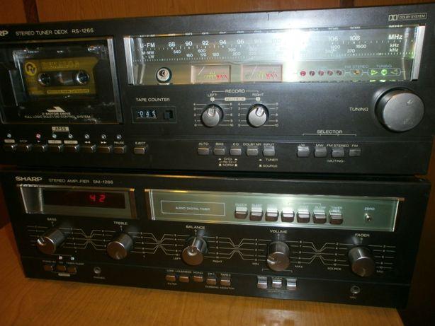 Wieża SHARP Wzmacniacz-Tuner-Magnetofon -- Vintage --