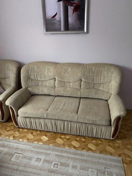 Kanapa rozkładana plus dwa fotele
