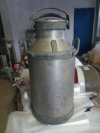Kanka banka zbiornik  na mleko miod aluminiowa