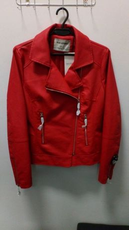 Nowa kurtka skóra ekologiczna piękna czerwona cudowna jakość r. L eko