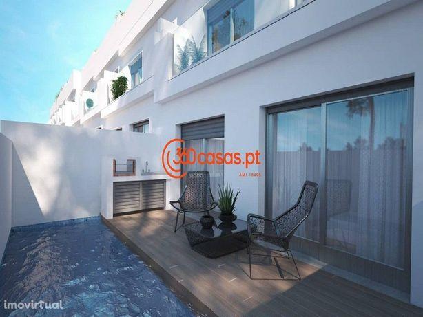 Moradia T3 novo com piscina e vista mar | Fuseta, Olhão