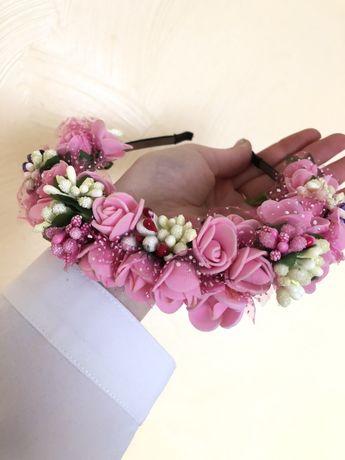 Обруч для волос на голову (розовий, голубой)