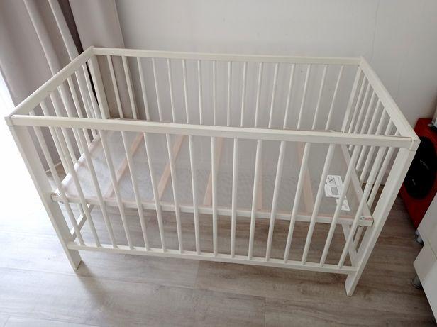 Łóżeczko dziecięce Ikea Gulliver białe drewniane 60x120