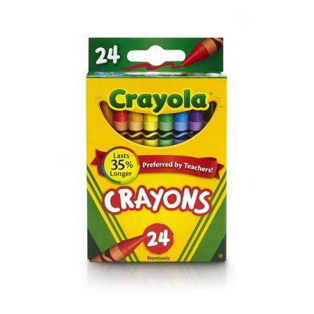 Восковые карандаши Crayola 24 цвета!