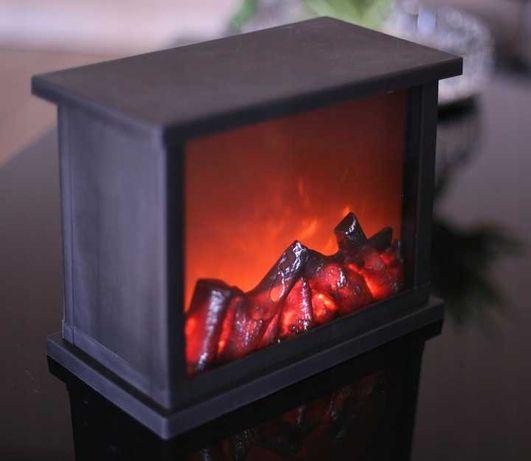 Kominek Led Lampion z Ogniem Ruchomy Płomień Duży