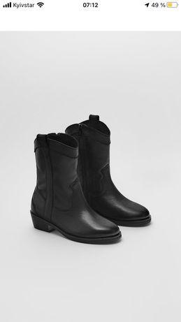 Детские кожаные ботинки козаки Zara