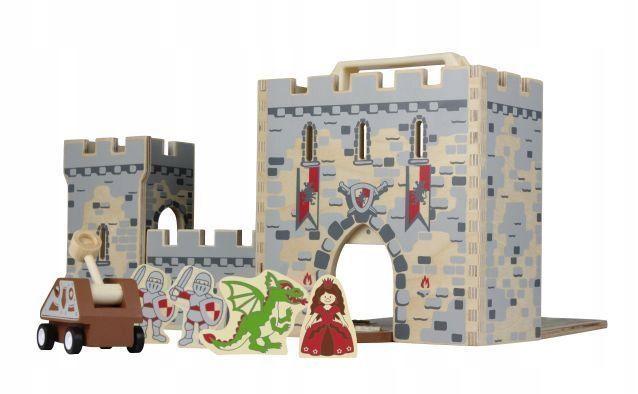 Nowy Zestaw Zamek Drewniany Rycerze Podróżny