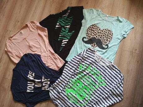 Koszulka bluzka damska L 40 długi krótki rękaw