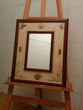 Quadro de Flores secas com espelho