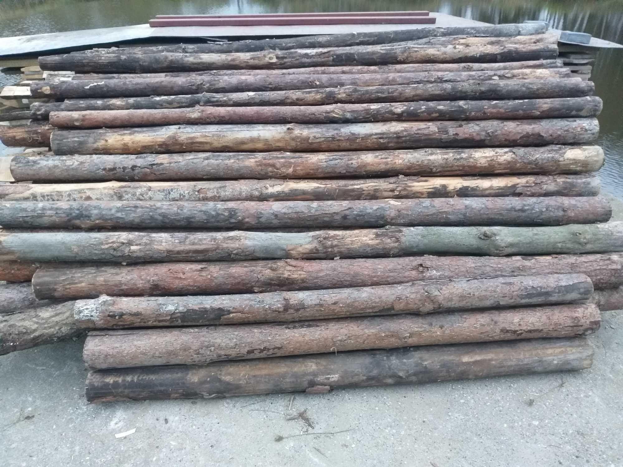 stemple budowlane drewniane/Słupi ogrodzeniowe drewniane