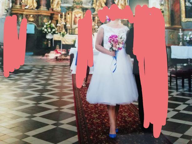 Suknia ślubna krótka rozm 42