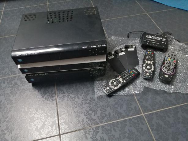Dekoder nBox BSLA z dyskiem 500 GB, 250GB, Spliter bi-turbo z 5kart.