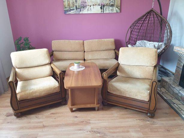 Sofa kanapa komplet wypoczynkowy dwa fotele