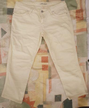 Żółte spodnie slim jeans jeansy 3/4 NEW LOOK 42 14