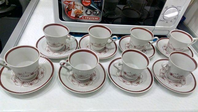 Кофейная чашка с блюдцем фарфор СССР новые