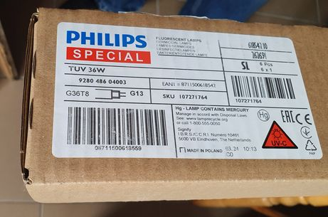 Świetlówka żarnik UV-C Philips TUV 36W