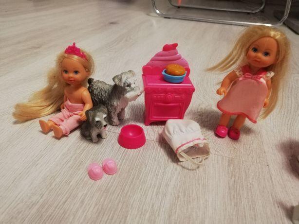 Zestaw laleczki Barbie Evi dzieci piesek kucharz