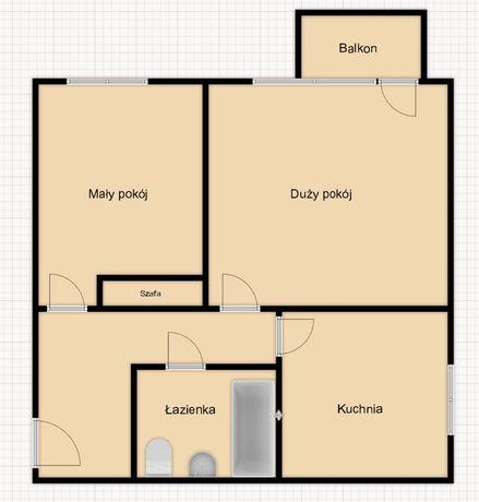Słoneczne mieszkanie na sprzedaż - 2 pokoje, 3 piętro