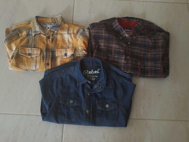 Modne i wygodne- zestaw koszul cool club, denim, rebel