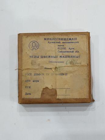 Иглы швейные машинные. Производство СССР.