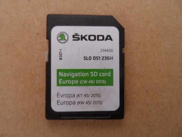 karta SD nawigacji Skoda Octavia Superb Fabia Yeti Rapid