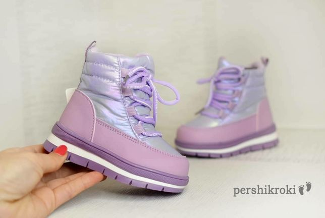 Дутики від ТМ Kimbo 22-27 розмір/ зимове взуття для дівчат/