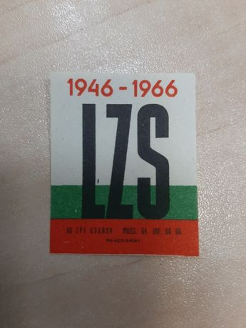 Etykieta zapałczana LZS 1946 / 1966 PZP Gdańsk