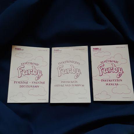 Instrukcja obsługi opieki słownik Furby Ferby Ferbi Tiger 1998
