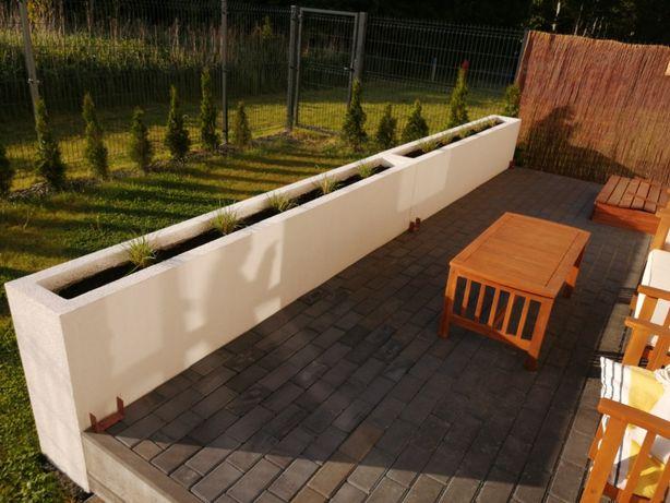 Donice ogrodowe na wymiar, lekkie, różne możliwości wykończenia !