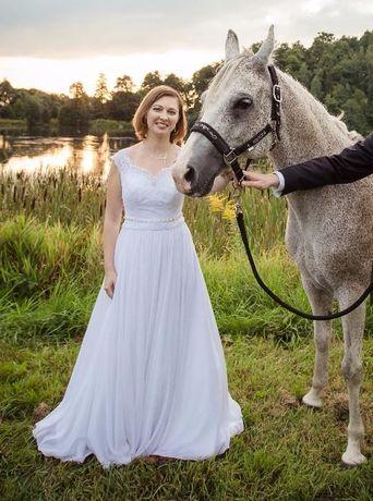 Przepiękna biała suknia ślubna, stan idealny jak nowa