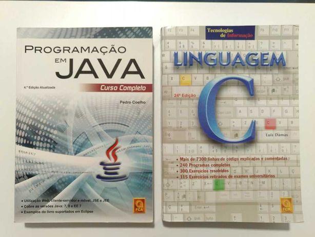 Livros de programação (Java e C)