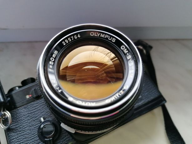 Olympus om-1 + obiektyw olympus 50 mm f 1.4