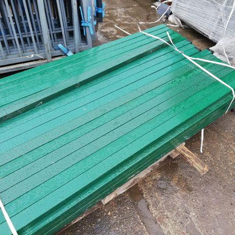 tanie słupki ogrodzeniowe 60x40 ocynk + kolor kurów